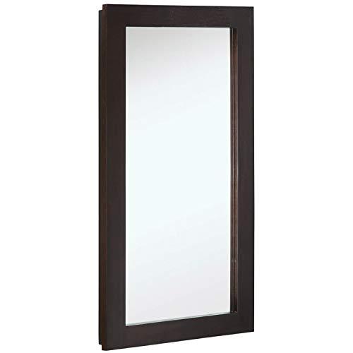 "Design House 541326 Ventura Framed Mirrored Medicine Cabinet in Espresso, 16"" W x 30"" H"