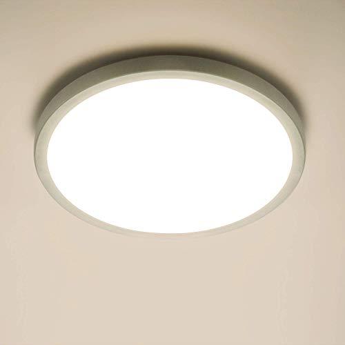 Yafido LED Plafoniera 18W Ultra Magro UFO Pannello LED Tonda Bianco Bianca Naturale 4500K 1620LM Lampada da Soffitto per Soggiorno Camera da letto Bagno Cucina Corridoio e Balcone Ø18cm