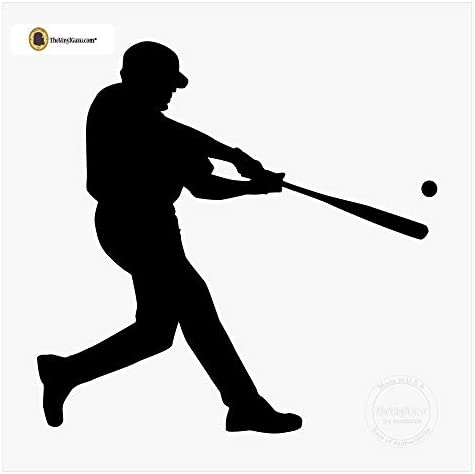 Baseball Player Wall Decal Batting Boys/' Room Vinyl Wall Decor