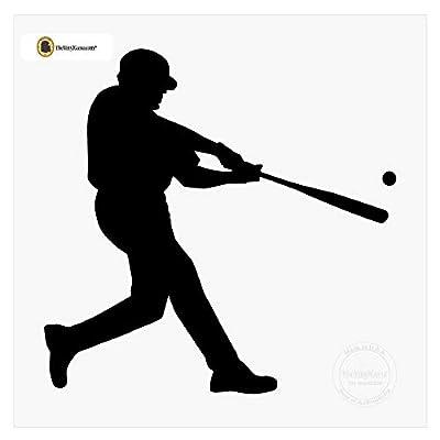baseball player wall decal