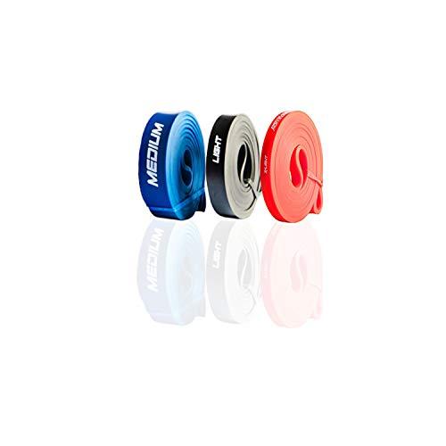 ActiveVikings® Pull-Up Fitnessbänder   Perfekt für Muskelaufbau und Crossfit Freeletics Calisthenics   Fitnessband Klimmzugbänder Widerstandsbänder (G - Light Package (Rot Schwarz Blau))