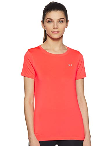 Under Armour Women's UA HG Armour SS Short-sleeve T-shirt - Red (Rouge), XS