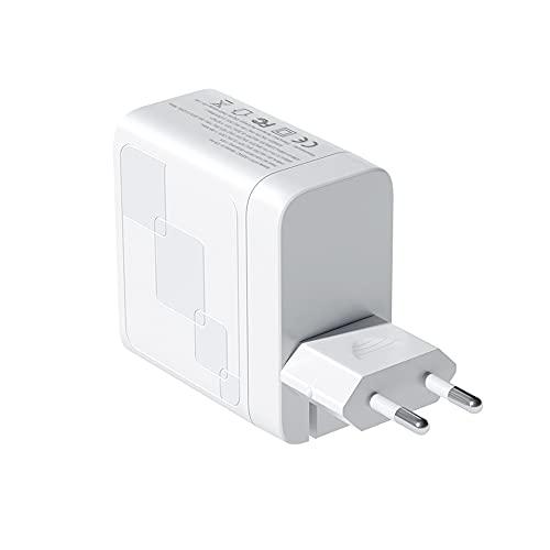 Montloxs Cargador rápido USB + PD de 65 W Cargador de Pared de 2 Puertos Adaptador de Corriente Plegable Cargador PD Compatible con i Phone/Mac-Book/i Pad/Air-pods/Pixel/Galaxy/Switch