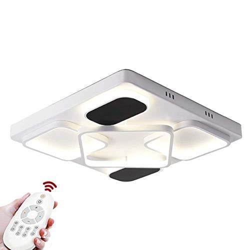 LED 107 W wit zwart moderne plafondlamp vaste plafondlamp met smalle montage voor slaapkamer verlichting 21,7x21,7x3,2in traploos dimbaar