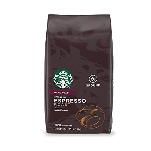 Starbucks Dark Espresso Roast Ground Coffee, 100% Arabica, 28 Oz