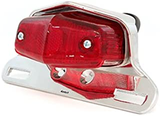 4into1 Lucas Style Tail Light Assembly - Chrome w/Red Lens