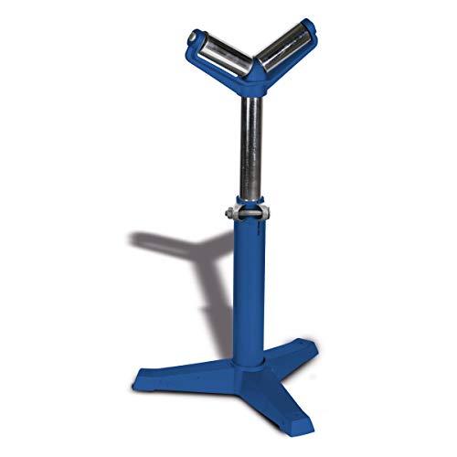 Metallkraft Materialständer MS 3 V (max. Stützlast 400 kg, höhenverstellbar, hochbelastbare Stahlrollen), 3660705