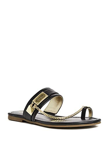 GUESS Factory Women s Landen Chain Sandals Black