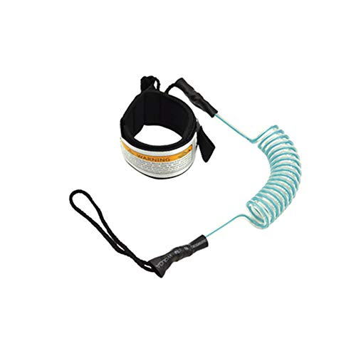 Surfboard Leash Rope, Elastic Boats Safety Outdoor Surfing Leash Rope Stand Up Paddle Coiled Sup Hand TPU Spring Rope Fast Rebound, High Strength, Strong Durable Adjusted Freely