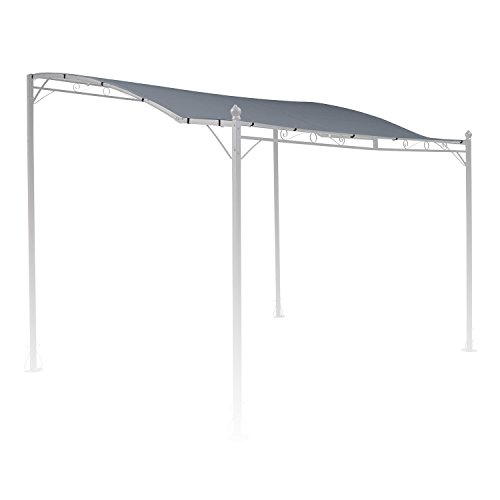 blumfeldt Allure Roof Grey - Replacement Roof, Pergola Covering, Terrace Canopy, 3 x 2.5 m, 180 g/m² Polyester, Weather-resistant Material, Sun Protection, For Allure Pergola Canopy, Grey