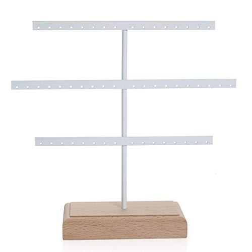 Collar con colgante de 3 niveles para exhibiciones de pendientes, pendientes, organizador de joyas para colgar pendientes