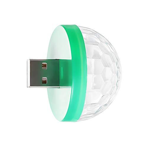 OMKMNOE Mini Luces De Discoteca USB, Luces De Fiesta Luz De Luz De Bola Mágica Activada Colorido Estroboscópico LED con Enchufes para DJ Etapa Atmósfera Fiesta De Navidad,Verde