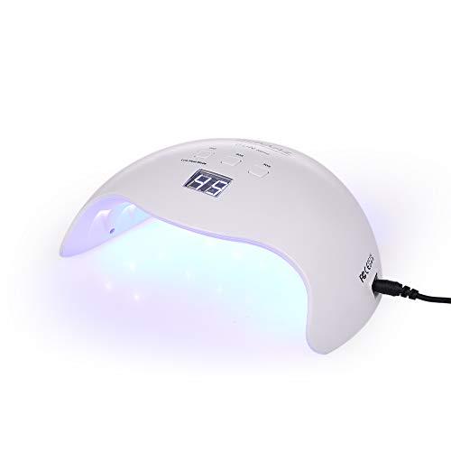 Roeam UV Nail Lamp, 48 W UV LED Nail Lamp, Zonlicht Nagel Gel Droger Machine, Timer Instelling 30s, 66s, 99s Auto-sensing Vingernagels Toenails uitharden Machine Nagel Art Tool