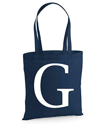 Bolsa de la compra de algodón con diseño del alfabeto grande para la vida