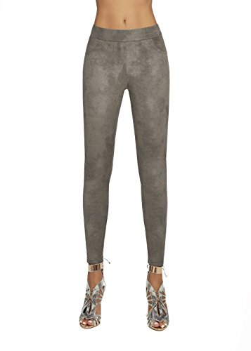Bas Bleu Ladies Fashion Washed Grey Graphite Taglia: L