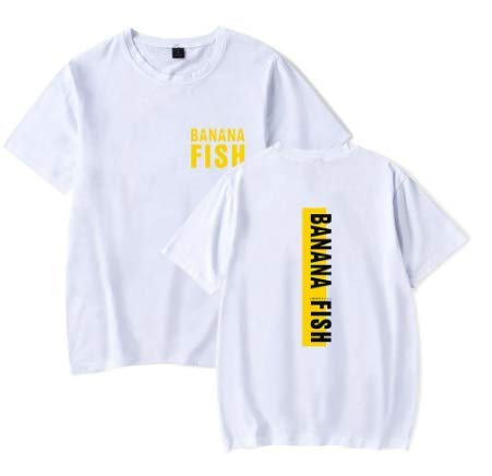 Camiseta Básica Unissex Algodão Banana Fish Anime Tumblr (Rosa Bebê, M)