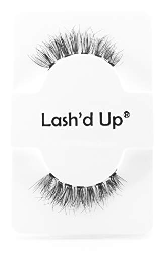 Lash'd Up Human Hair Magnetic Eyelashes Only - 5 Magnets for use with Magnetic Eyeliner Reusable Wispy (Very Natural)