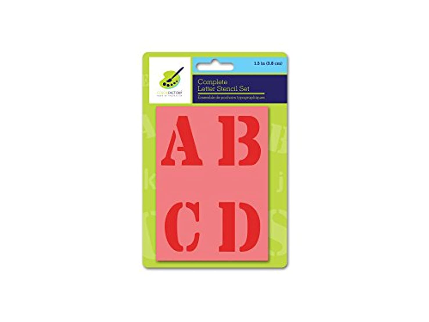 Color Factory PA718B Complete Letter Stencil Sets, 1.5in, 1.5