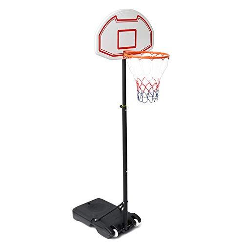 Jtoony Aro de baloncesto 155-210 cm ajustable niño juego al aire libre deportes baloncesto tablero aro red Sets con soporte de baloncesto