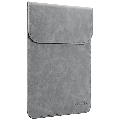 Allinside Funda de Cuero Sintético para portátiles de MacBook Air 13' 2018-2020 (A2337 M1 A1932 A2179)/ MacBook Pro 13' 2016-2020 (A2338 M1 A2251 A2289 A2159 A1989 A1706 A1708), Gris