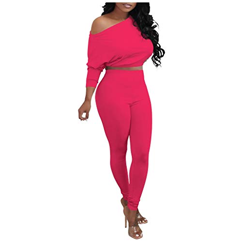 LATINDAY Women Casual Pullover Hoodie Sweatpants 2 Piece Sport Jumpsuits Outfits Set