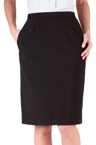 Ed Garments Women's Waistband Straight Skirt, Black, 12
