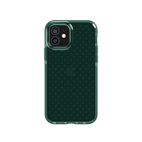 Tech21 Evo Check per Apple iPhone 12 e 12 Pro 5G - Custodia antimicrobica per combattere i germi, con protezione da 3,6 m, verde notte