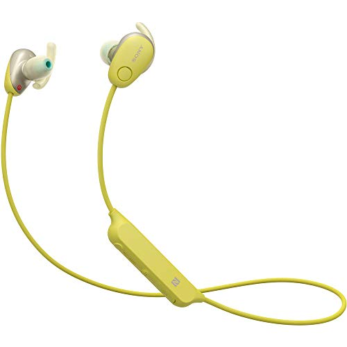 Sony WI-SP600N Premium Waterproof Bluetooth Wireless Extra Bass Sports in-Ear 6 Hr of Playback Headphones/Microphone (Yellow)