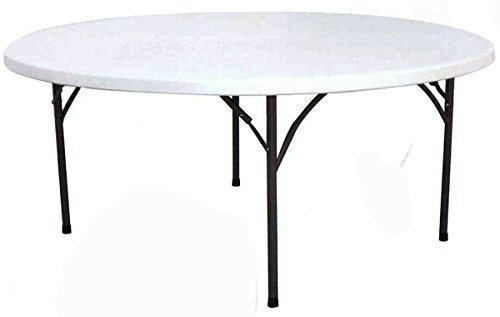 PEGANE Table de Jardin avec Plateau Rond en polypropylène Coloris Blanc- A Usage Professionnel - Dim : H 76 x Ø 180 cm