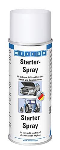 WEICON Starter-Spray / 400 ml / Starthilfe-Spray für einfaches und sicheres Starten von Motoren / Auto / Motorrad / Benzin / Diesel