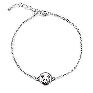 Mini PANDA bracelet,Dome glass jewelry, Delicacy jewellery?pure handmade