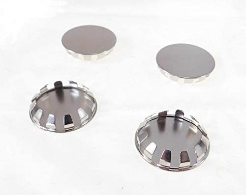 quality assurance 4 Pack 1-5 8'' Metal Hole Ind - Plugs- Nickel SP-1.625-NK Plated Long Beach Mall