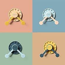 Livronic 360 draaien Adhisve haak klok jas haak sleutels kleding opslag haken badkamer wandmontage jas houder (kleur: E)