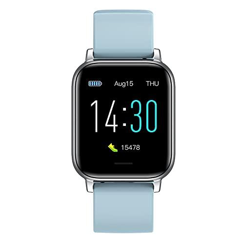 XYJ Smart Watch Compatible con iPhone y teléfonos Android Tracker Fitness con monitor de ritmo cardíaco Monitor de sueño y saturación de oxígeno en la sangre 5atm Smartwatch impermeable para mujeres (