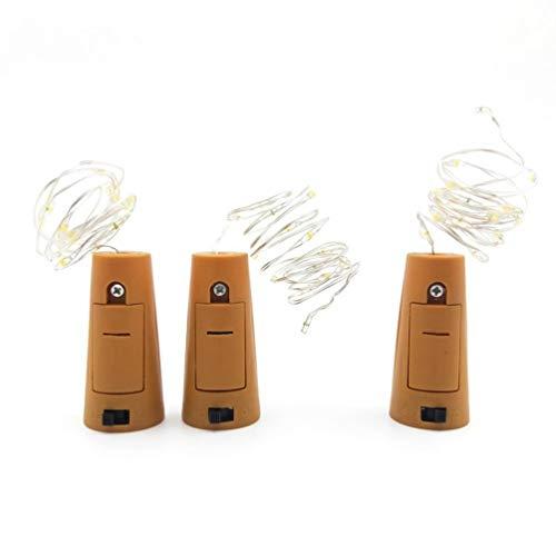 Lurrose Garrafa de vinho luz de cortiça 15 LED mini cordão de luz luzes estreladas para festa de casamento, decoração de bar (azul 1,4 M)