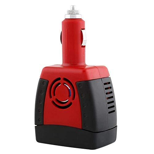 Yaootely Inversor de Potencia 150W 12V a AC 220V Adaptador de Voltaje de Salida de Coche con Puertos de Carga USB 0.5A