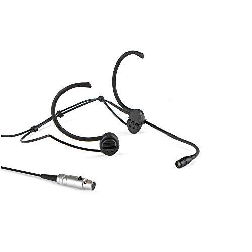 Pro Earhook Headset Headworn Unidirektionales Mikrofon - 3-poliges Mini-XLR-Stecker-Mikrofon für den kabellosen Taschensender von AKG - Schwarz