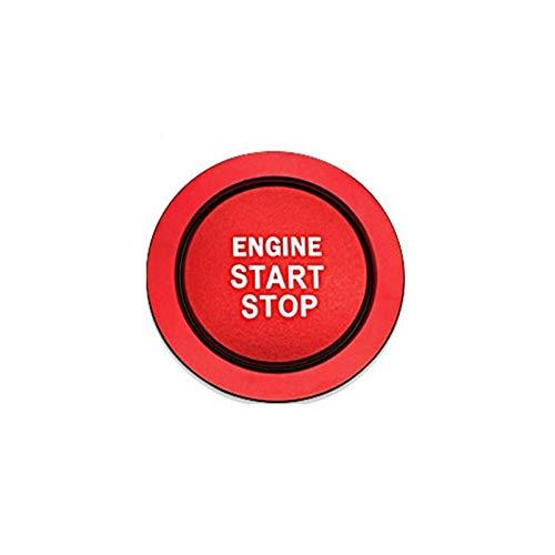 Aluminiumlegierung Auto Motor Startknopf Zündungsdeckel Dekoration Trim Aufkleber Für Toyota Corolla Rav4 Yaris C-HR C HR CHR 86 GT86 FT86 Scion FR-S Camry Cruiser HighLand (Style A, Red)