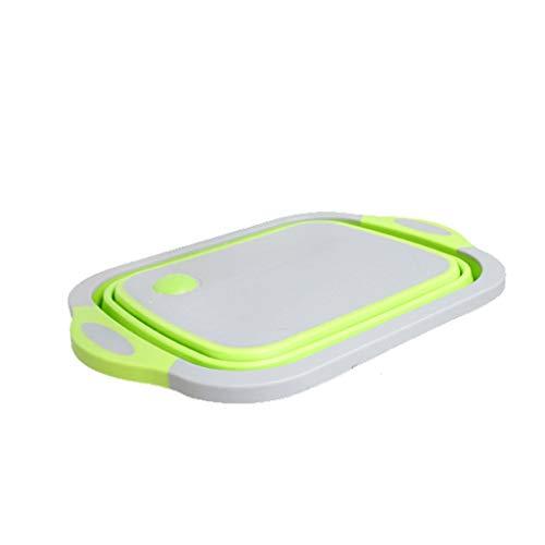 Conveniente Tabla de Cortar Hogar Cocina Multifuncional Fregadero de Plástico a prueba de Moldes Plegable Portátil Lavabo de Drenaje Cesta de Verduras