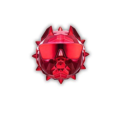 XIAOQIAO Ambientador de Aire de Coche Bulldog, Perfume de Coche Bulldog Aroma, Fragancia de Coche, Interior del Coche, Difusor de Fragancia Clip de Coche (Color : Red)
