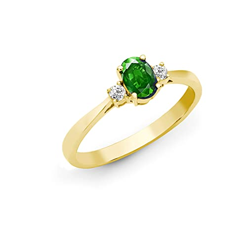 Jewelco Europa Señoras Oro Amarillo 18k 0.08ct Diamante compromiso anillo