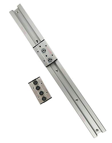 TEN-HIGH Guide linéaire double axe 800mm rail linéaire SGR25 avec 2 blocs de chariot SGB25-4UU pour imprimante 3D et machine CNC