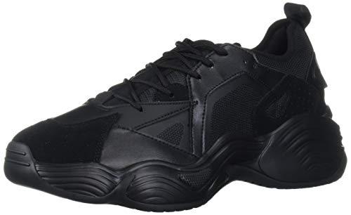 Emporio Armani Herren Chunky Sneaker Turnschuh, schwarz, 46 EU