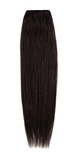 American Dream Remy 100% cheveux humains 35,6 cm soyeuse droite Trame Couleur 2 – Marron foncé