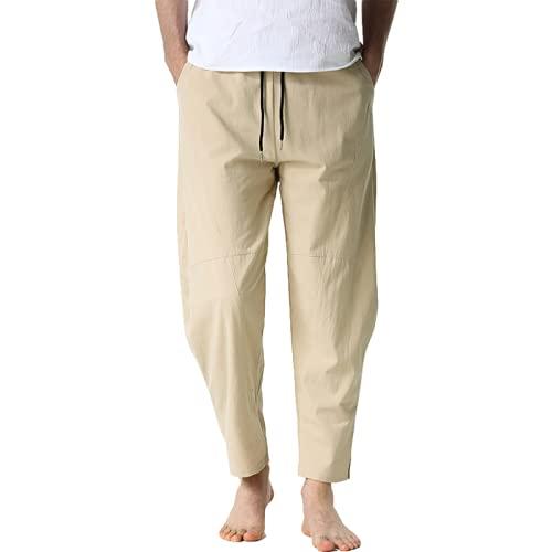 Pantaloni Casual da Uomo Pantaloni Larghi con Coulisse Elastico in Vita Pantaloni Casual Elastici Leggeri Casual per la casa Pantaloni Casual per Tutti i fiammiferi all'aperto S
