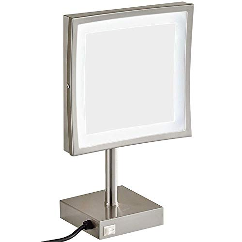 KMMK Espejo especial para maquillaje, 8 pulgadas, luz LED, sobremesa, espejo de...