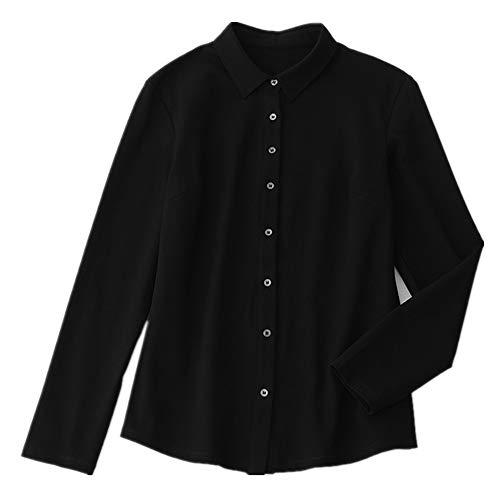 NOBRAND Blusa de manga larga casual Negro Negro ( XL