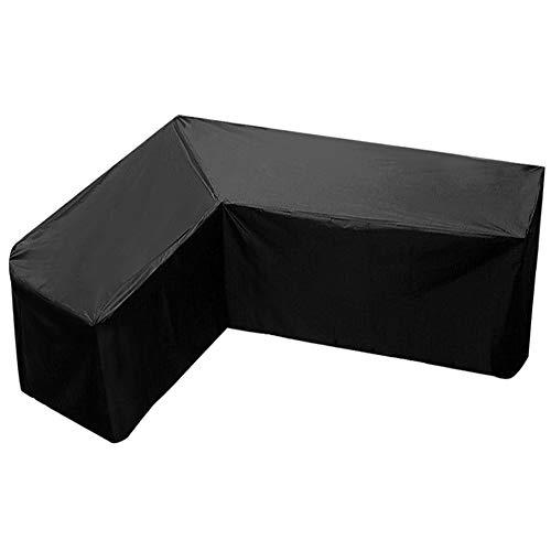 L-Form Abdeckung für Gartenmöbel, L-förmige Gartenmöbelbezüge,Patio wasserdichte, staubdichte UV-Schutz-Ecksofabezug mit Aufbewahrungstasche für Patio-Sofa-Couch im Freien (215x215x87cm)