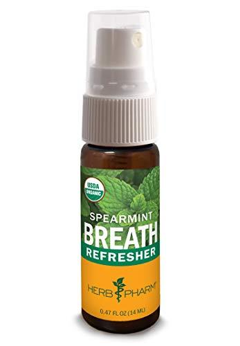 Herb Pharm Breath Refresher Certified Organic Herbal Fresh Breath Spray, Spearmint