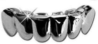 Big Dawgs Bling Hip Hop Lower Bottom Gun Metal Teeth Grillz